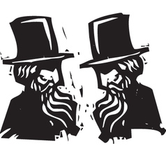 Two Old Men vector image