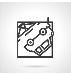 Abstract icon for car evacuation vector image vector image