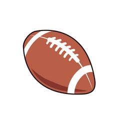 american football ball sport play equipment image vector image