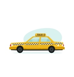 Cartoon yellow taxi icon Isolated objects on vector image