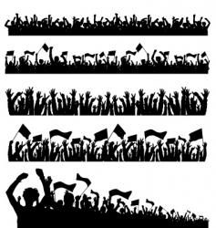 crowd 1 vector image
