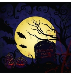 Halloween background for banners vector image
