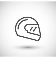 Modern motorcycle helmet line icon vector image vector image