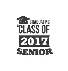 the set of two black colored senior text signs vector image