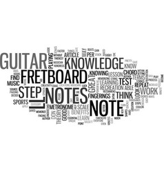 A guitar lesson to help you test your note vector