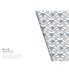 Abstract cover sheet of blue stripe line pattern vector