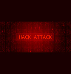 Abstract tech binary code dark red hacker attack vector