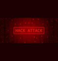 abstract tech binary code dark red hacker attack vector image