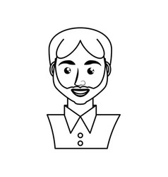 adult male avatar young vector image