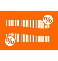 barcode with percent sign vector image