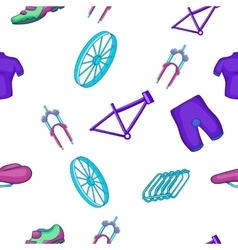 Bike pattern cartoon style vector