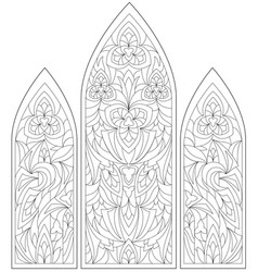 Black and white page for coloring fantasy drawing vector