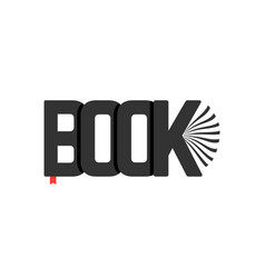 black book logo with bookmark vector image