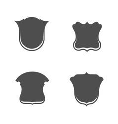 Blank shield badges set vector
