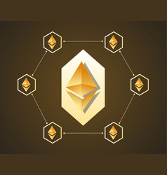 Blockchain ethereum background style collection vector