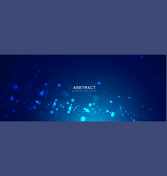 Blue background with glowing dots bokeh style vector