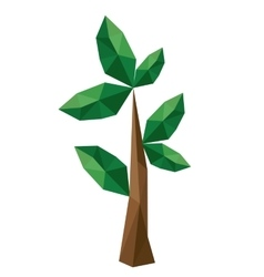 branch low poly isolated icon design vector image