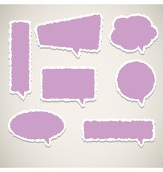 bubble speech paper vector image