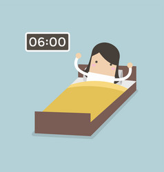 businesswoman wake up early vector image
