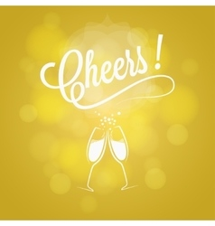 Cheers Party Sign Champagne Design Background vector image
