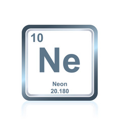 Chemical element neon from the periodic table vector