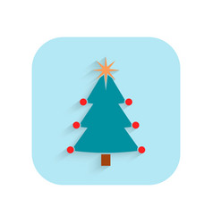 christmas tree flat icon holiday symbol vector image