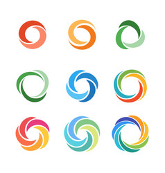 circle company logo signs set vector image