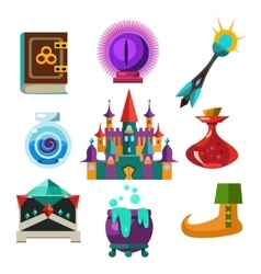 Collection of Fairy Tale Elements vector image vector image