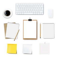 computer keyboard frame isolated white background vector image