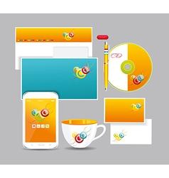 Corporate identity kit vector image