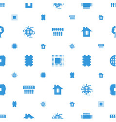 cpu icons pattern seamless white background vector image