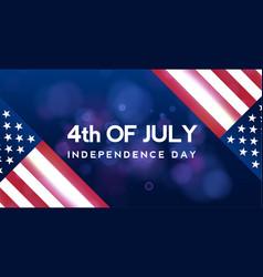 creative invitation flyer decorated american vector image