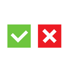 Creative of green tick red vector
