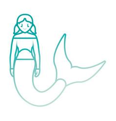 Cute smiling mermaid ico vector