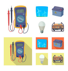 Design of electricity and electric sign vector