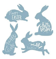 Easter Hand drawn design elements vector image