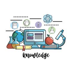 Education school knowledge and utensils design vector