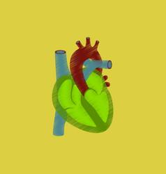 Flat shading style icon heart vector