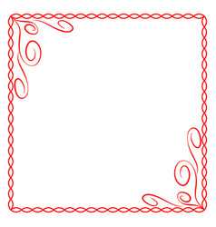 frame red 5 1102 vector image