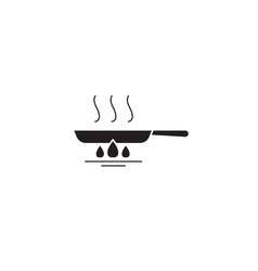 frying pan black concept icon frying pan vector image
