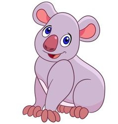 funny cartoon koala vector image