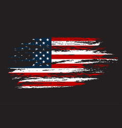 Grunge flag usa in with texture vector