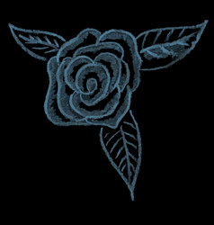 hand drawing chalk flower rose vector image