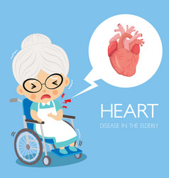 Heart disease cardiology in grandmorther vector