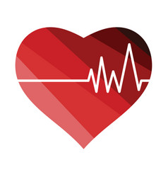 heart with cardio diagram icon vector image