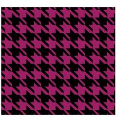 Houndstooth pattern violet design vector