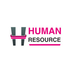 human resource logo vector image