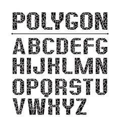 Low polygon sans serif font vector