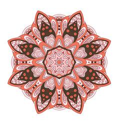 Mandala pattern doodle drawing round ornament vector