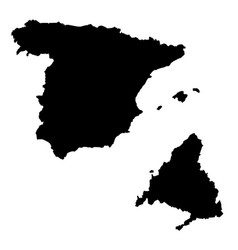 Map spain and madrid country and capital vector